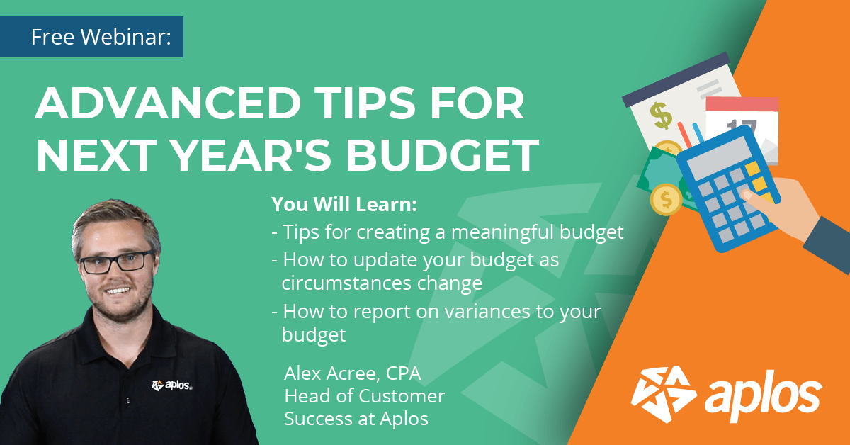 Webinar: Advanced Tips For Budgeting