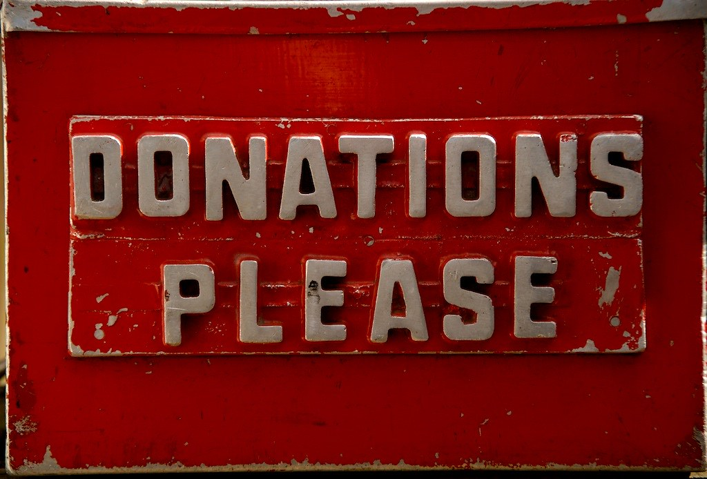 What are donations in kind?