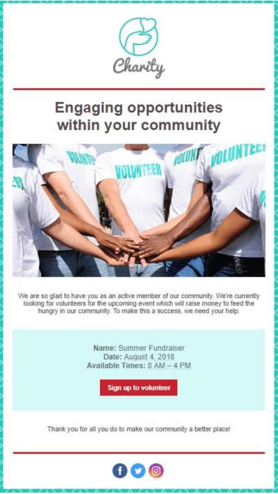 Summer Fundraiser Email