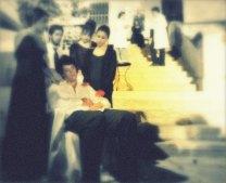 Τιμητικές παραστάσεις στη μνήμη του Φ. Αγγουλέ στις κλίμακες του Α΄ Δημοτικού Βροντάδου (27 και 28-8-2011). Φωτογραφία Πολύδωρος Στείρος
