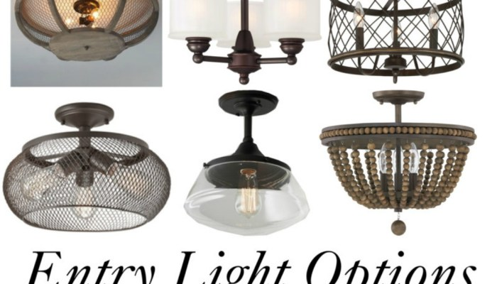 Entry Way Light Options
