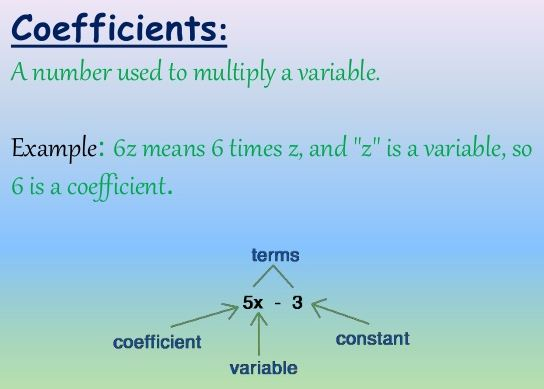 Parts of an Expression: Terms, Factors & Coefficients - Video ...