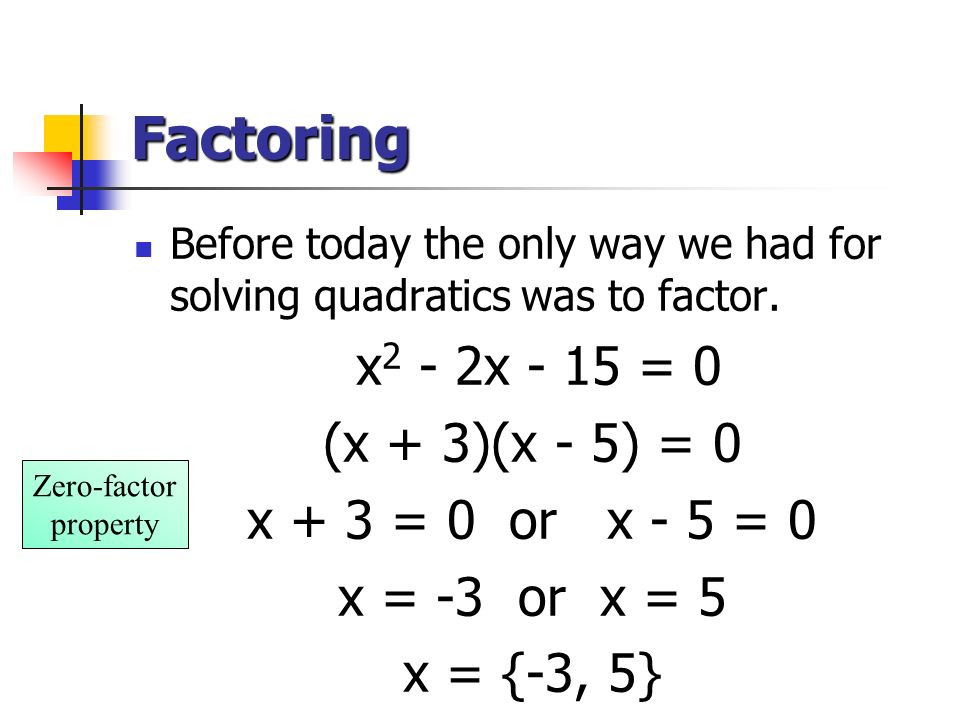 Solving A Quadratic Equation By Factoring - A Plus Topper