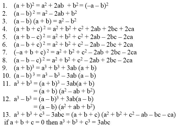 Algebraic identities of polynomials a plus topper.