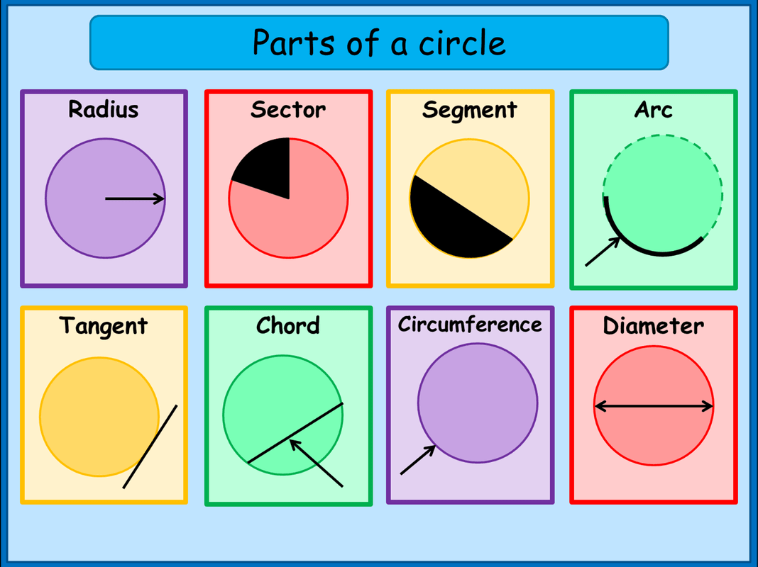 What Are The Parts Of A Circle