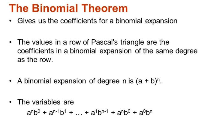 The Binomial Theorem A Plus Topper