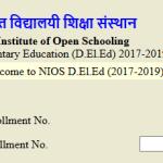NIOS DElEd 2nd Exam 2018 Application Status of Fee