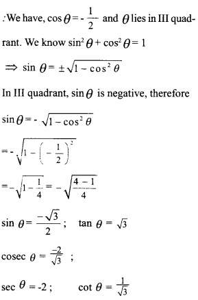 HSSlive Plus One Maths Chapter Wise Questions and Answers Chapter 3 Trigonometric Functions 46