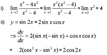 Plus One Maths Chapter Wise Previous Questions Chapter 13 Limits and Derivatives 26