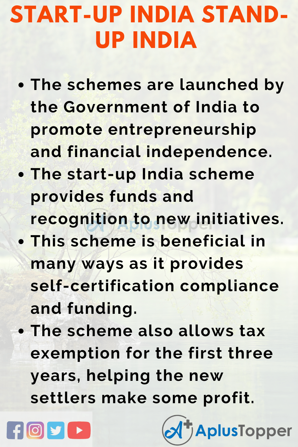 Essay about Start-Up India Stand-Up India