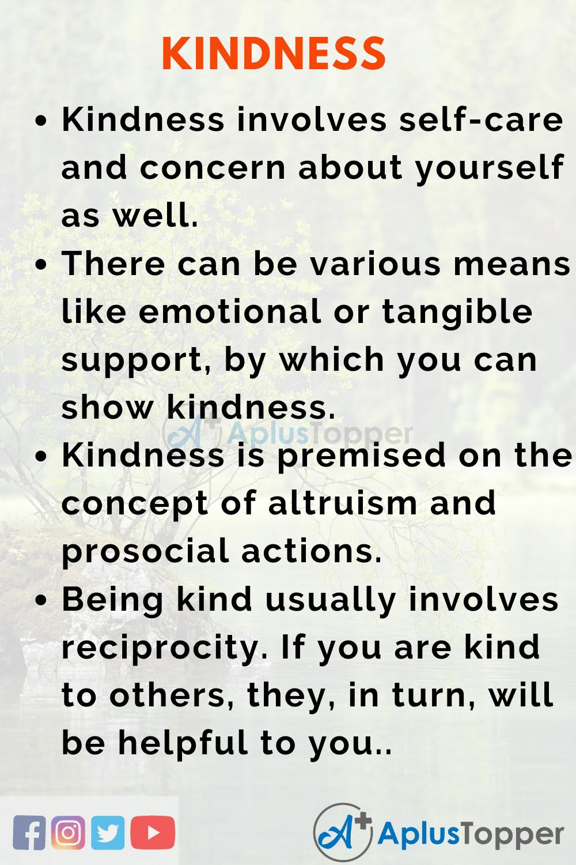 Essay on Kindness
