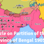 Article on Partition of the Province of Bengal 1905