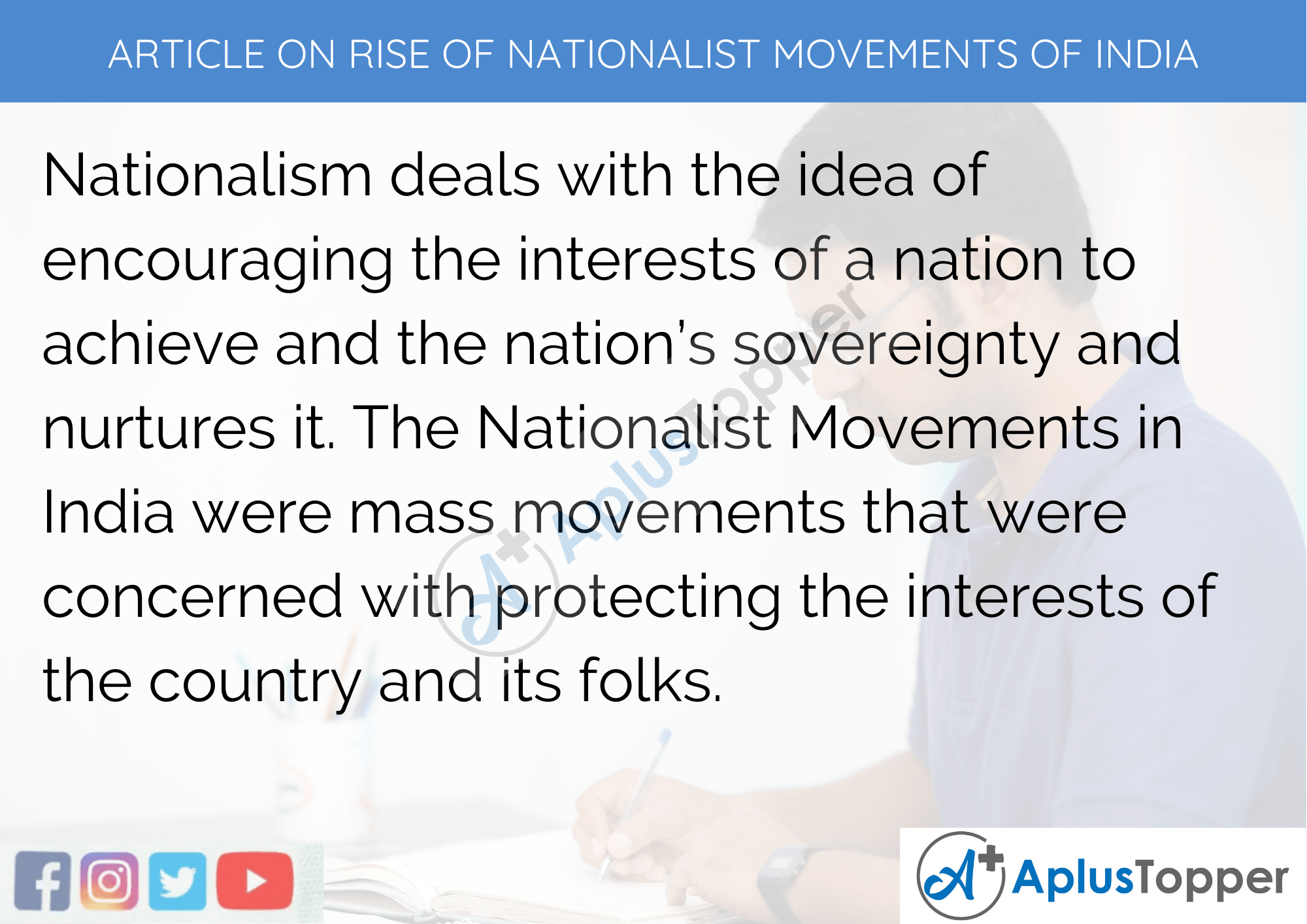 Long Article On Rise Of Nationalist Movements Of India In English 500 Words in English