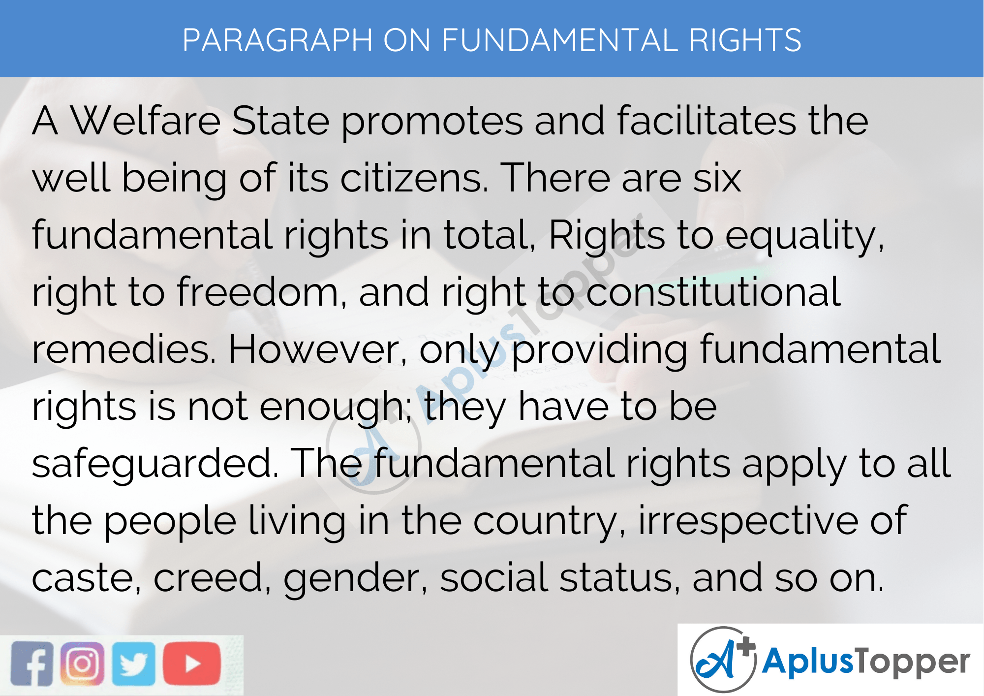 Paragraph On Fundamental Rights - 100 Words for Classes 1, 2, 3 Kids