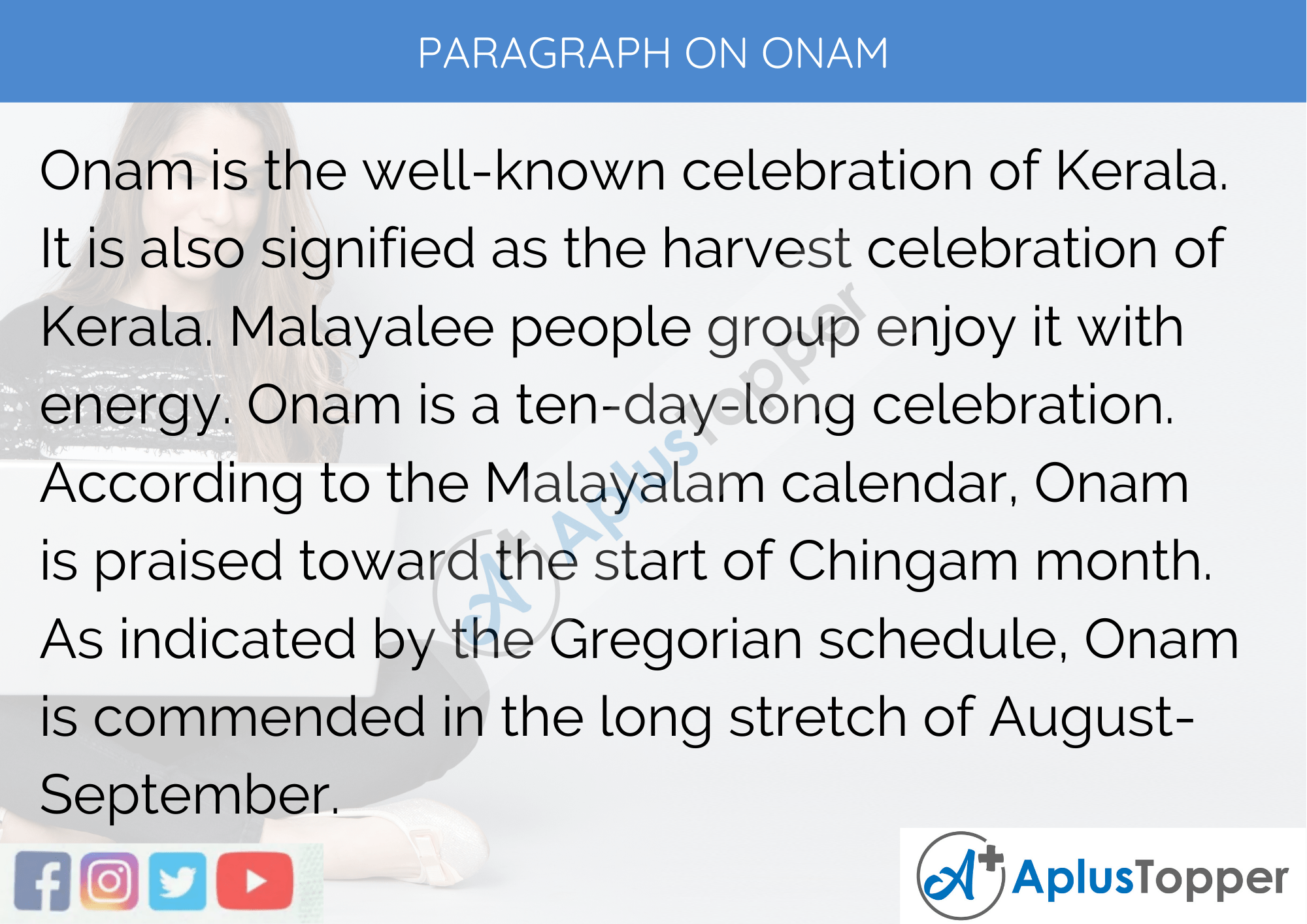 Paragraph On Onam - 100 Words for Classes 1, 2, 3 Kids