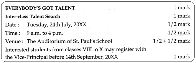 Notice Writing Class 10 ICSE