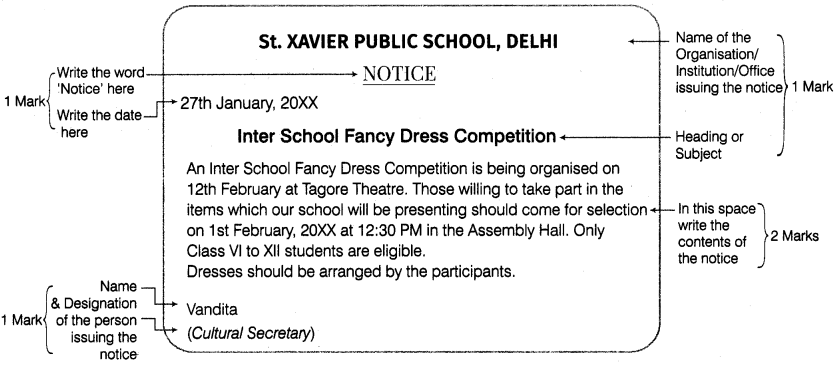 Notice Writing for Class 9 ICSE