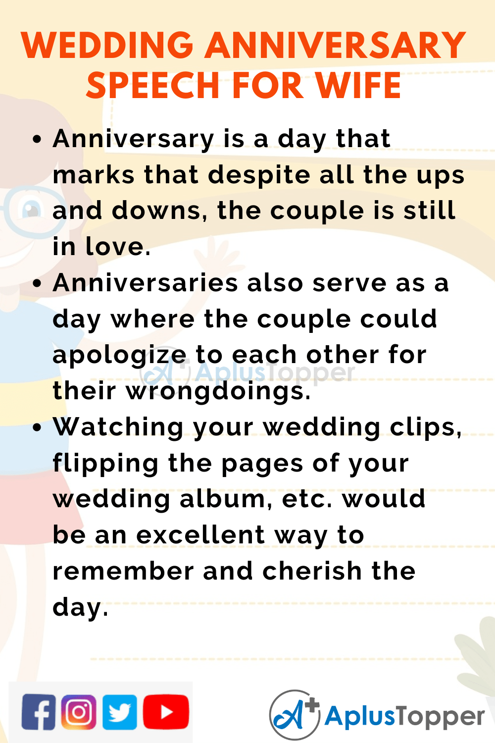 Short Speech On Wedding Anniversary for Wife 150 Words In English