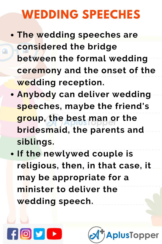 Short Speech Wedding Speeches Of 150 Words In English