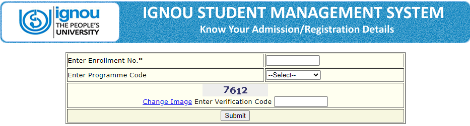 IGNOU Registration Status