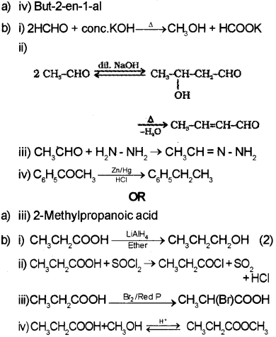 Plus Two Chemistry Chapter Wise Previous Questions Chapter 12 Aldehydes, Ketones and Carboxylic Acids 60