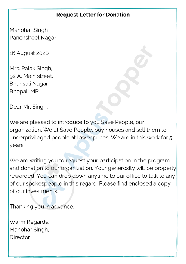 Request Letter  Format, Template and Samples  Request Letter for