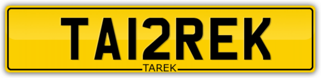 MUSLIM-NUMBER-PLATES-FOR-SALE-TA12REK-TAREK-TARIQ-FIRSTNAME