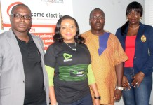 L-R: Financial Controller, Income Electrix Limited, Ajao Akintunde; Regional Enterprise Account Manager South-South, Etisalat Nigeria, Chika Tombari-Meneylo; Payroll Officer, Income Electrix Limited, George Akpan; and Manager, Corporate & SME Sales Etisalat South, Nneka Owolabi, during Etisalat 4G LTE awareness visit to Income Electrix Limited in Port Harcourt on Friday