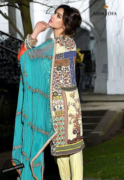 Asim Jofa Luxury Lawn Collection 2018 13A