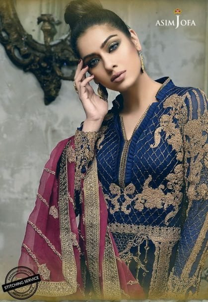 Asim Jofa Embroidered Chiffon 2018 05A