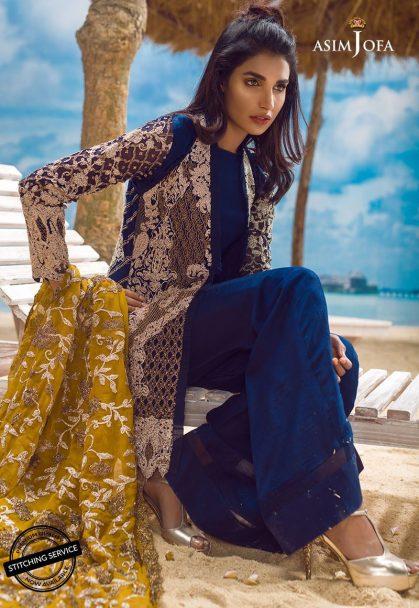Asim Jofa Luxury Chiffon Eid Collection 2018 01A