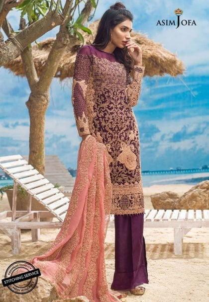 Asim Jofa Luxury Chiffon Eid Collection 2018 04B