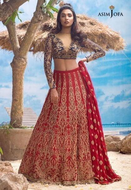 Asim Jofa Luxury Chiffon Eid Collection 2018 05A
