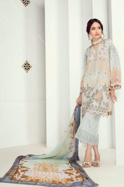 Fuchsia Luxury Lawn Collection Vol 5 2018 01 – Soft Serenade