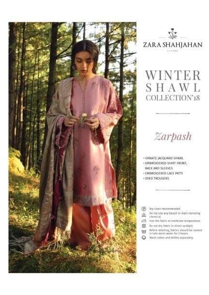 ZARA SHAHJAHAN LUXURY SHAWL COLLECTION 2018 ZARPASH 09
