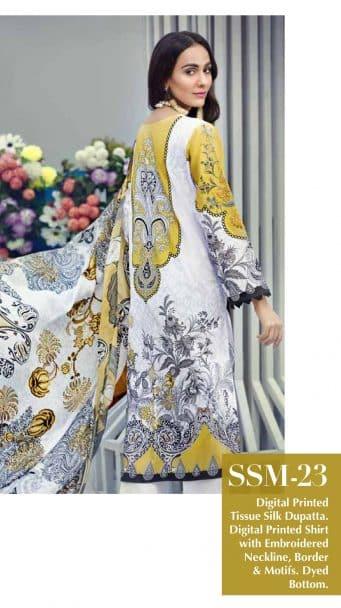 Gul Ahmed Malmal Volume 2 Collection 2019 SSM-23