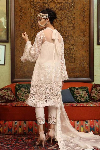 Majestic Luxury Chiffon Collection by Embroyal 2019 – 04 Frosted White