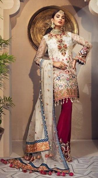 Anaya Isfahan Embroidered Chiffon Unstitched 3 Piece Suit 2019 02 YASMIN