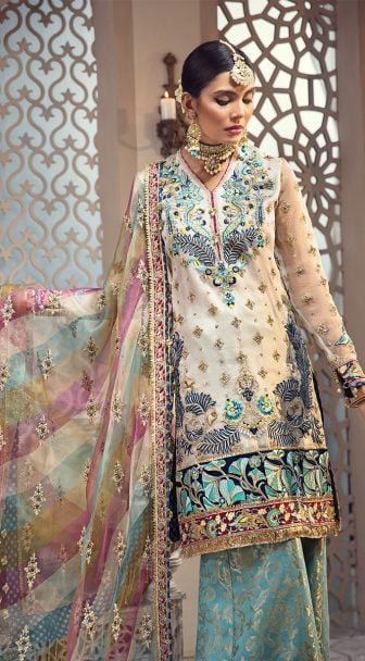 Anaya Isfahan Embroidered Chiffon Unstitched 3 Piece Suit 2019 06 FIRUZEH
