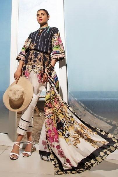 Firdous Vintage Tropical 2019 Mid Summer Cotton Collection FVT-04A