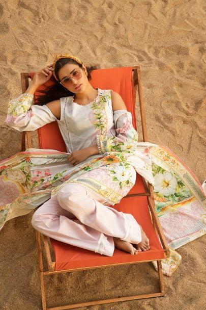 Firdous Vintage Tropical 2019 Mid Summer Cotton Collection FVT-07A