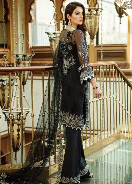 Serene Premium Embroidered Chiffon Festive Collection 2019 02 Midnight Dream