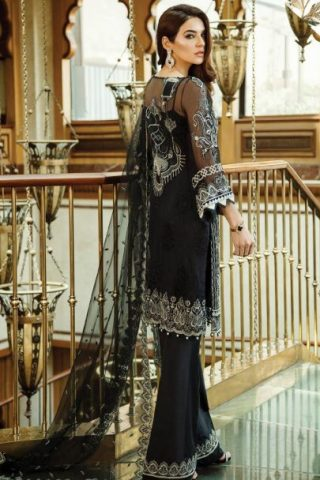 Serene Premium Embroidered Chiffon Festive Collection 2019 02 Midnight Dream