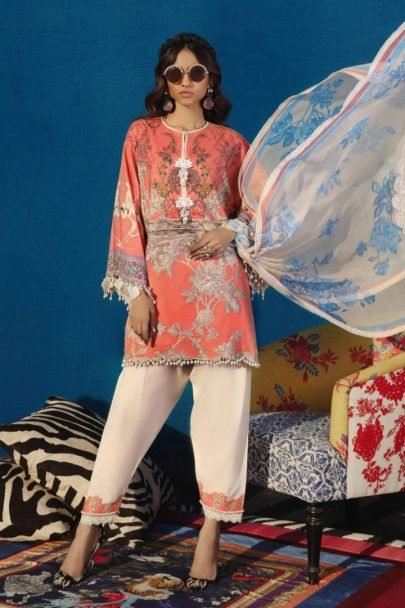 Sana Safinaz Muzlin Summer Collection Unstitched 2 Piece Suit SSM20 08B Lawn Collection