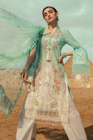 Maria B Luxury Lawn Unstitched 3 Piece Suit MBL20-2003B Lawn Collection