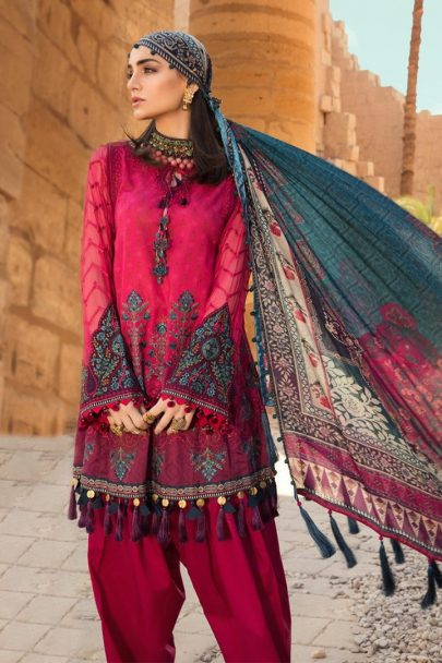 Maria B Luxury Lawn Unstitched 3 Piece Suit MBL20-2007A Lawn Collection