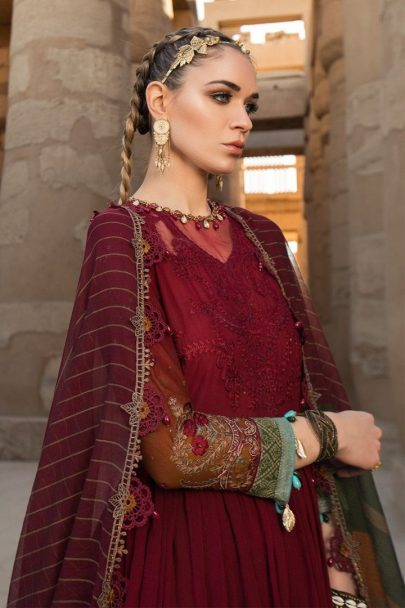 Maria B Luxury Lawn Unstitched 3 Piece Suit MBL20-2012B Lawn Collection