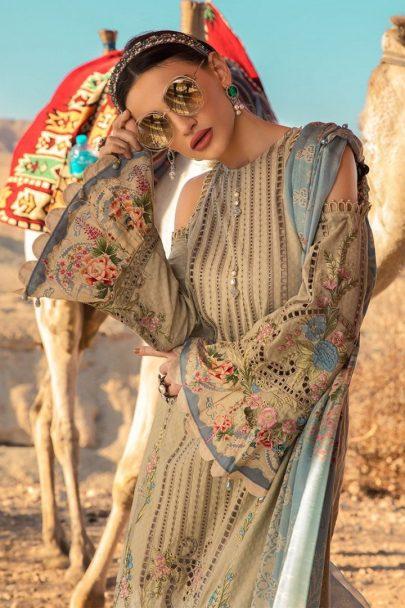 Maria B Luxury Lawn Unstitched 3 Piece Suit MBL20-2013B Lawn Collection