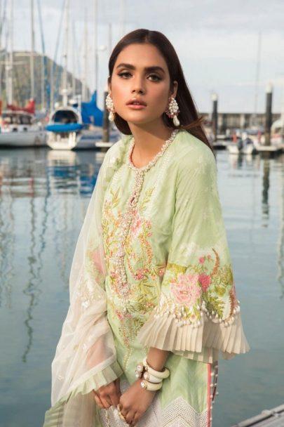Sana Safinaz Luxury Lawn Unstitched 3 Piece Suit SSLL20-001B Lawn Collection