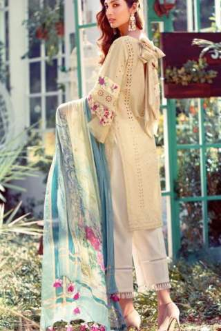 Elaf Luxury Embroidered Lawn Unstitched 3 Piece Suit EFLL20-06 - Summer Collection